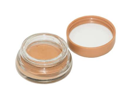 tonal: Tonal cream in glass jar isolated on white