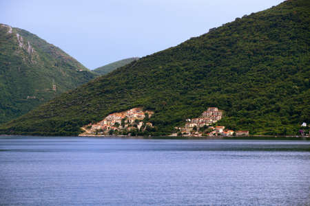 boka: Beautiful landscape Kotor bay, Boka Kotorska, Montenegro, Europe.