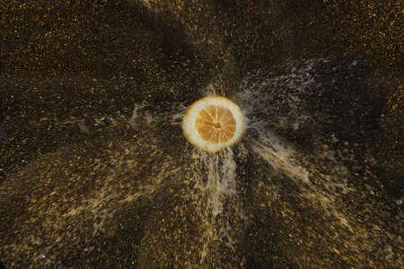 frescura: Agua Limón cae cítricos fresco frescura amarilla