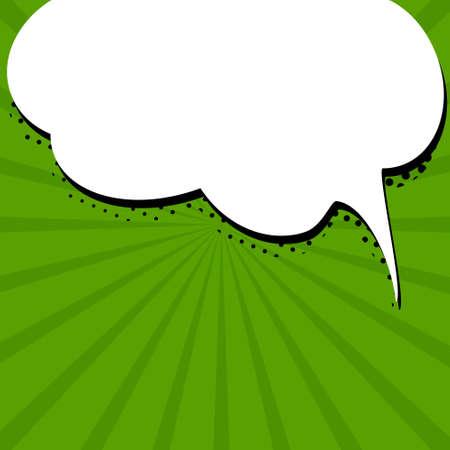 vectoe: Speech bubble on green background. Vectoe illustration Illustration