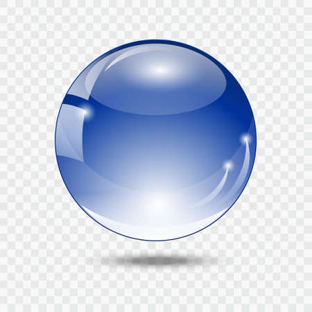 glass ball: Glass ball. Blue glass sphere. Illustration