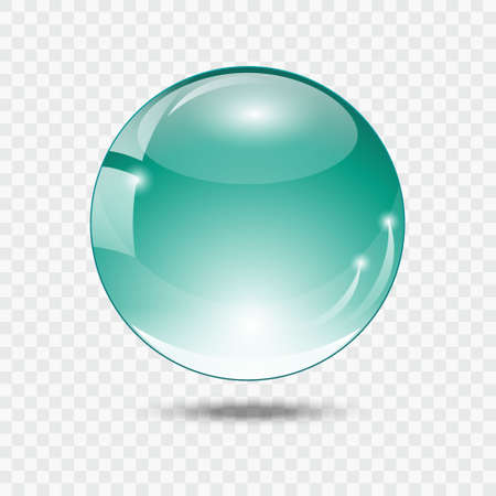 glass ball: Glass ball. Turquoise glass sphere.