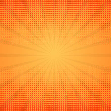 spotted: Comic background. Halftone illustration with rays