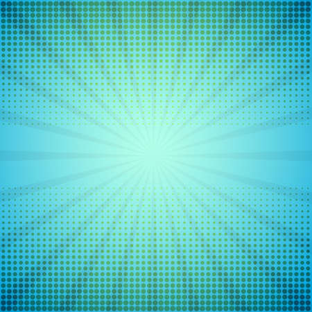 spotted ray: Comic background. Halftone illustration with rays