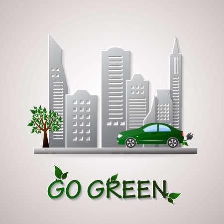 green environment: Go green design template. Environment illustration Illustration