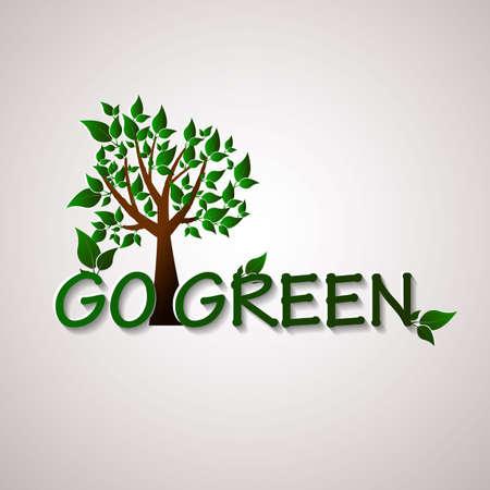 green environment: Go green design template. Environment illustration. Ecofriendly concept Illustration