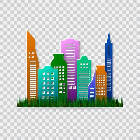 green environment: Go green design template. Environment illustration. Ecofriendly concept. Green city