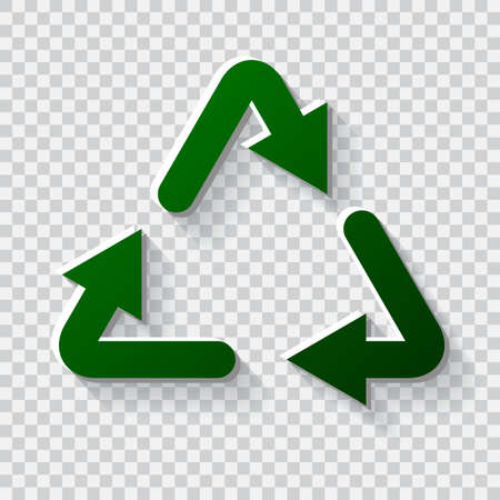 recycling: Recycling icon. Eco friendly concept. Recycling illustration Illustration