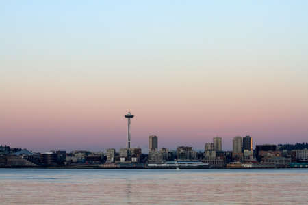puget: Scenic view of Puget Sound and downtown Seattle, Washington.