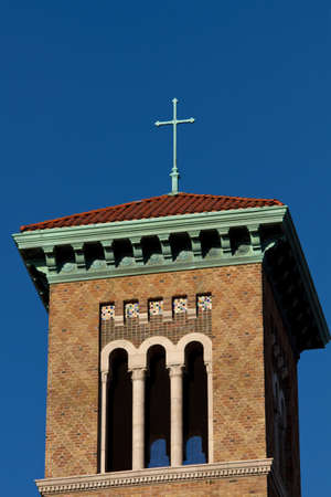 Cross placed on church roof and tower. Stock Photo - 8549010