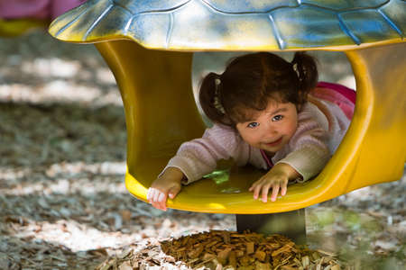 Toddler in playground photo
