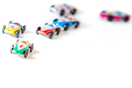 Colorful tin toy race cars ideal for concepts
