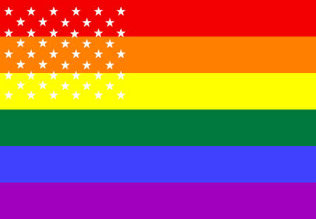 conceptually: PRIDE flag conceptually displays 50 stars