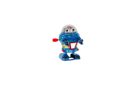 windup: Marching robot windup toy for concepts. Stock Photo