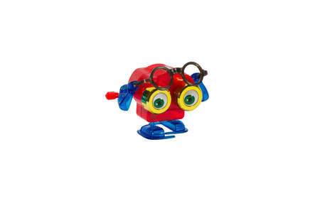 windup: Binocular toy windup character with eyeglasses for concepts