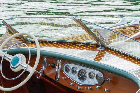 chock: Vintage wooden boat provide leisure time