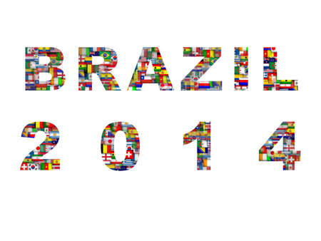 Brazil map with qualified nations for 2014 tournament photo