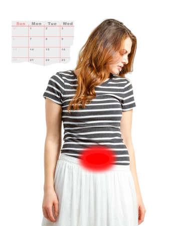 概念の女性の月経周期の問題に対処 写真素材