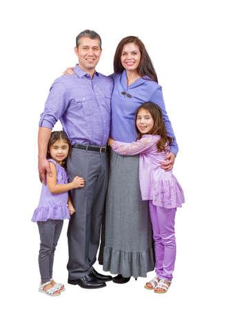 sanctity: Stare allegra e amorevole famiglia mista e sorriso