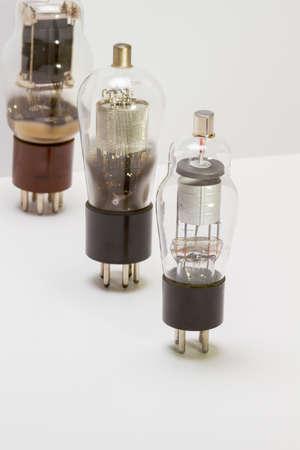 ingenuity: Retro amp tubes Stock Photo