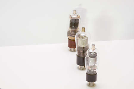 Retro amp tubes Stock Photo