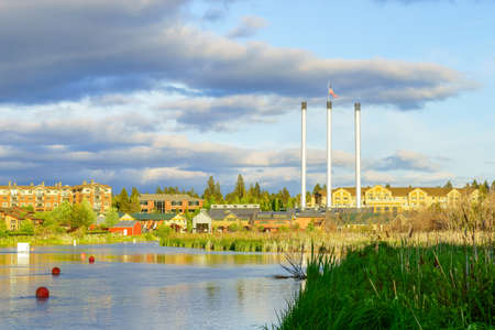rennovation: Mill District of Bend, Oregon Stock Photo