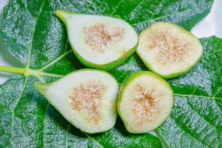 perishable: Tasty Sweet Honey Figs Snacks Stock Photo