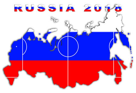 Russia 2018 Conceptual Soccer (Football  Futbol) Tournament Background photo