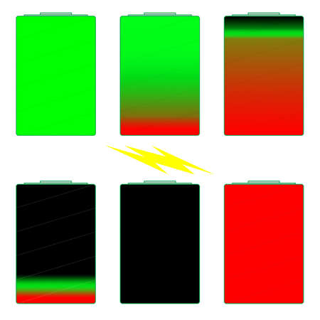 discharge time: Battery life indicator illustrations
