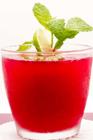 Mint is used to add a fresh flavor to refreshing drink
