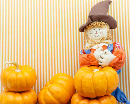 Scarecrow holds its heart in a jesture of love photo