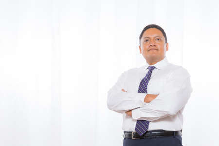 representations: Middle aged hispanic male in suit with confident expressions