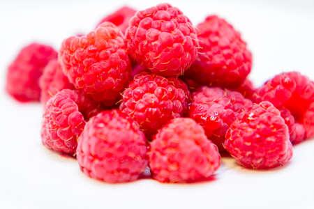 grocers: Fresh ripe raspberries