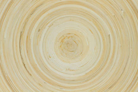 grooves: Wood dinner plate seen from above showing turn grooves Stock Photo
