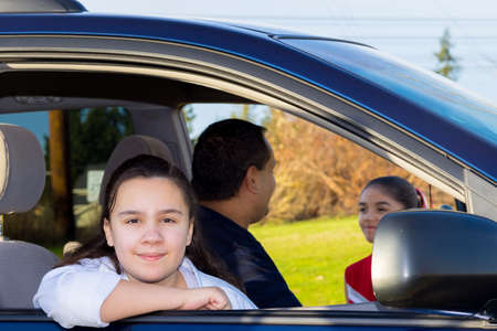 errands: Daughter Waits Patiently As Dad Sends Off Sister To Cheerleader Practice