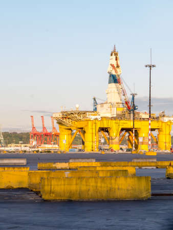 environmentalists: SEATTLE WASHINGTON USA  MAY 14: Polar Pioneer oil drilling rig arrives in Seattle and is docked at the Port of Seattles Terminal 5. The Polar Pioneer is expected to drill for oil in the Arctic raising protests from environmentalists. Editorial