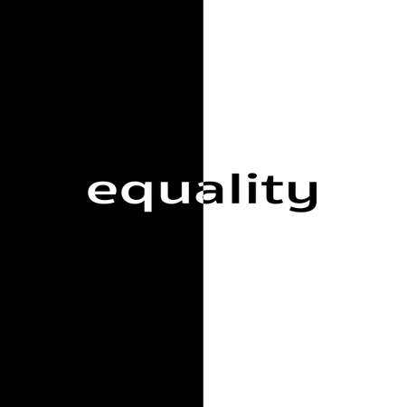 volatility: Social issues revolving around equality and race in America. Stock Photo