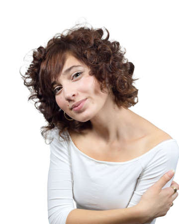 eyes hazel: Young Pretty Panamanian American Female Stock Photo