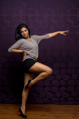 bilingual: Indian woman in different dance positions