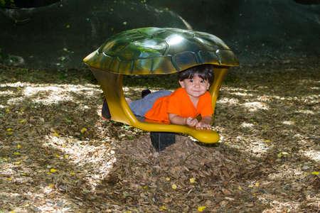 energetic: Energetic hispanic toddler having fun Stock Photo