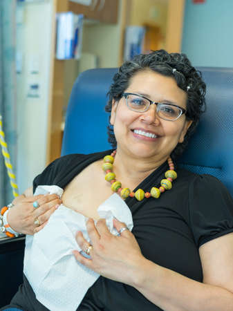 coping: Woman Receives Intravenous Chemo Treatment