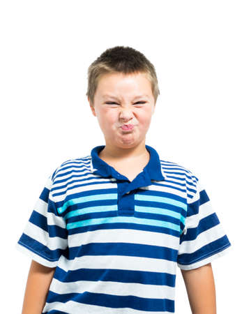 olive skin: Young Blond Male With Olive Skin Making Funny Sour Face