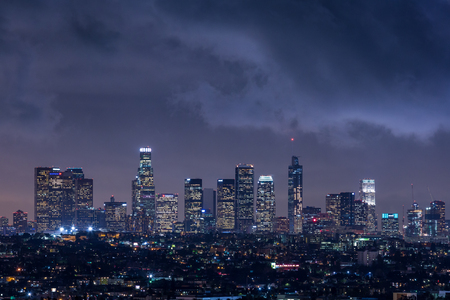 Los Angeles Skyline at Night Stock Photo - 82384580