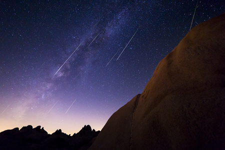 stargaze: Milky Way With Perseid Meteor Shower from Joshua Tree National Park
