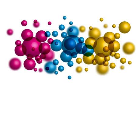 background with coloured balls Ilustracja