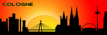 coulorful: Cologne silhouette