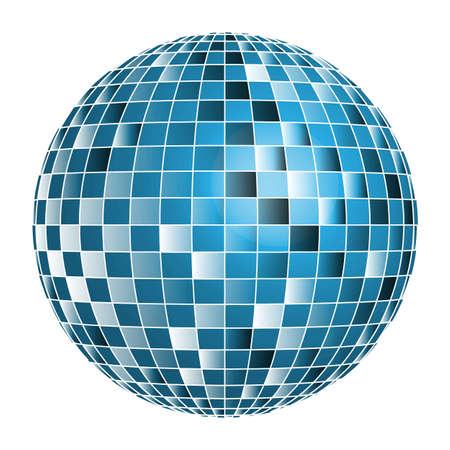 glitter ball: Disco ball Illustration