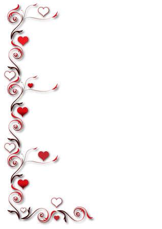 serpentinas: De fondo de San Valentín Vectores