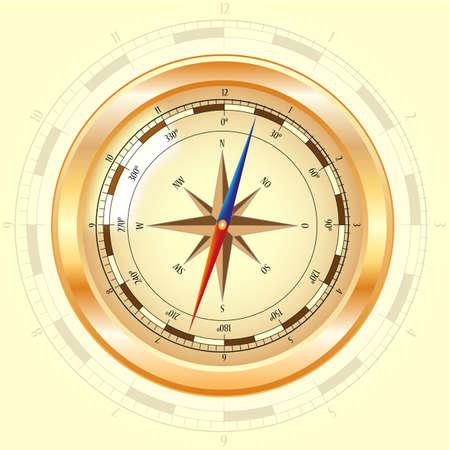 goldene Kompassrose Stock Vector - 12203783