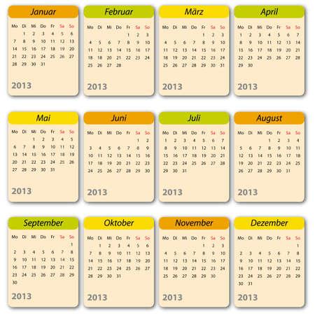 oktober: Kalender 2013